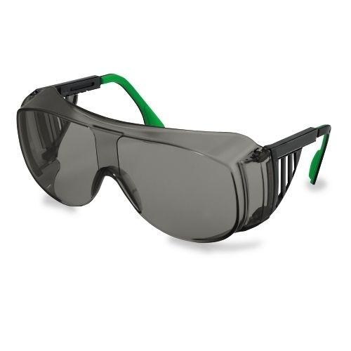 uvex Schweißer-Überbrille 9161141 schwarz / grün, PC grau, Schutzstufe 1,7, verstellbare Bügel