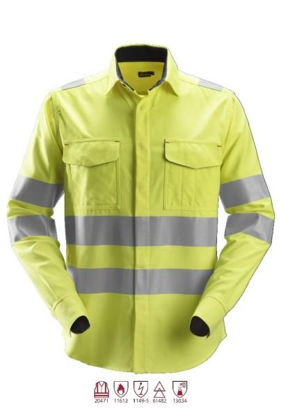 Snickers Workwear 8562 ProtecWork Langarmhemd signalgelb, antistatisch, Klasse 3