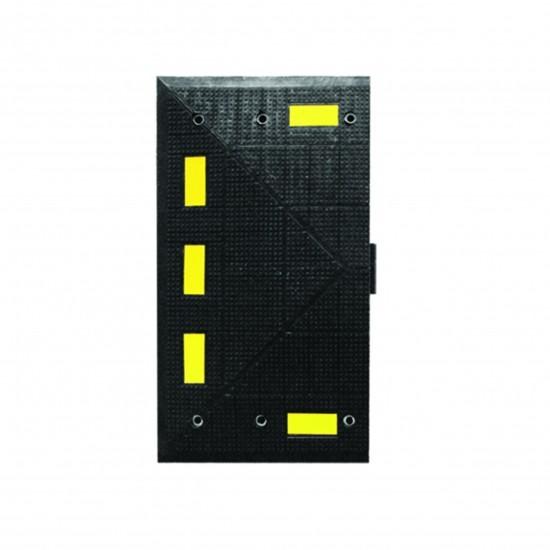 Checkers Safety Rider® Temposchwelle F Endkappe 90 x 50 x 5,1 cm, schwarz/gelb