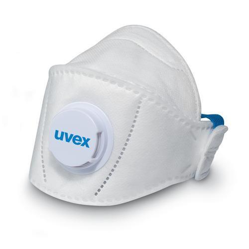 uvex Atemschutzmaske silv-Air premium 5110+ FFP1 NR D, Faltmaske mit Ventil