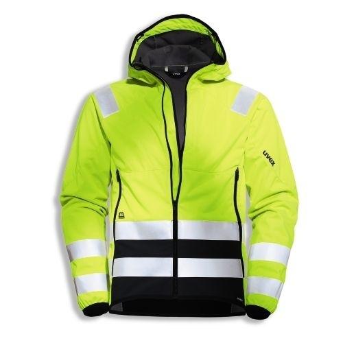 uvex Schutzbekleidung protection flash Softshell-Jacke warngelb/grau Modell 7431