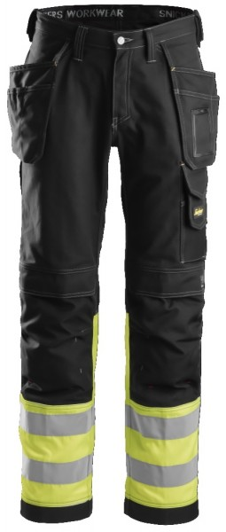 Snickers Workwear 3235 High-Vis Baumwoll-Arbeitshose mit Holstertaschen, EN 20471 Klasse 1