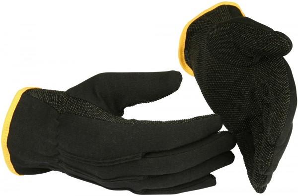 Schutzhandschuhe 547 Guide aus Baumwolle, schwarz, Mikro-PVC-Noppen