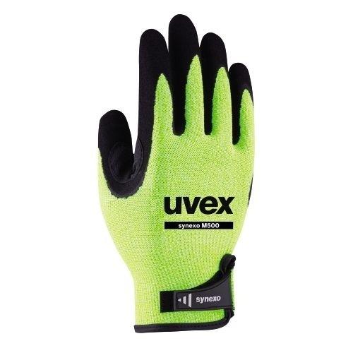uvex Schnittschutzhandschuhe synexo M500 mit Daumenbeugenverstärkung für robuste Tätigkeiten