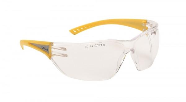 bolle Schutzbrille SLAM HIGH VISIBILITY - SLAHIVI mit Panoramasichtfeld, Bügel mit Reflexstreifen