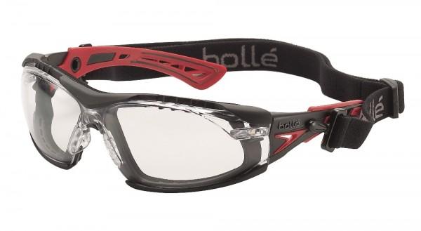 bolle Schutzbrille RUSH+ - RUSHPFSPSI, klares PC, mit Schaumstoff und Kopfband