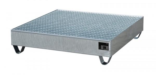Bauer Auffangwanne Typ ECO 4/400 aus Stahl mit Gitterrost, für 4x 400-l-Fass, Export-Ausführung