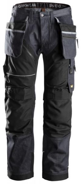Snickers Workwear 6204 RuffWork Denim, Arbeitshose+ HP, denim/schwarz