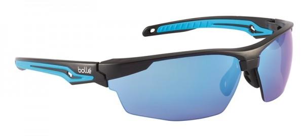 bolle Schutzbrille TRYON - TRYOFLASH mit flexiblen Gestell, Blau verspiegelt, Kratzfest