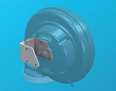 Fumex Montagekonsole LF VK für Fumex Ventilator FF 100, Wand- und Deckenmontage