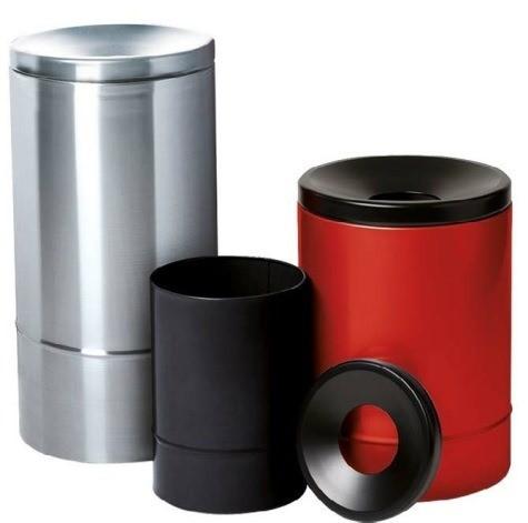 Selbstlöschender Papierkorb, 30 Liter, Edelstahl