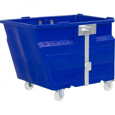 H.20543 - PE-Kippbehälter mit Rollen, Vol. 600 Liter, Farbe blau
