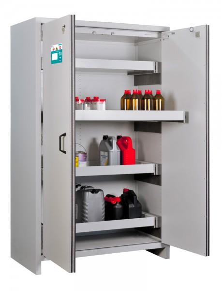 Priorit Sicherheitsschrank Priocab Typ90, EN92:196-120, 2-flügelig, 3 Wannenböden, Stahl