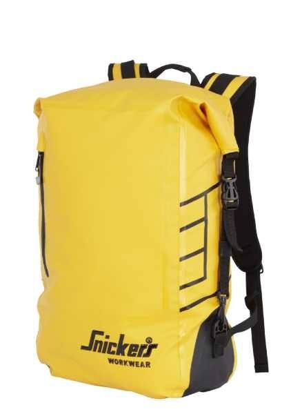 Snickers Workwear 9610 Wasserdichter Rucksack 30 Liter, gelb