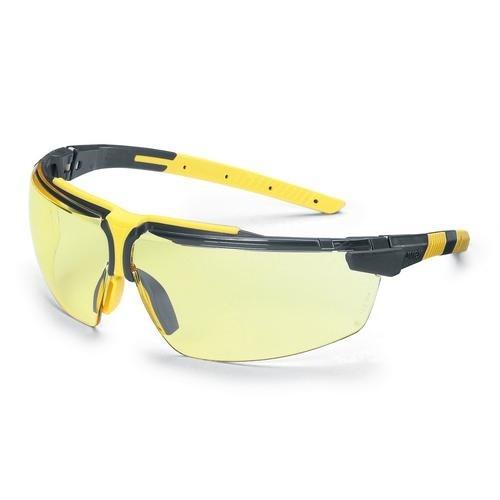 uvex Schutzbrille 9190220 i-3 anthrazit/gelb, PC amber, kratzfest, beschlagfrei