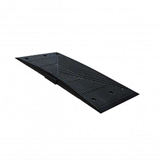 Checkers Safety Rider® Bodenschwelle Gummi F Endkappen, 90 x 50 x 5,1 cm, schwarz