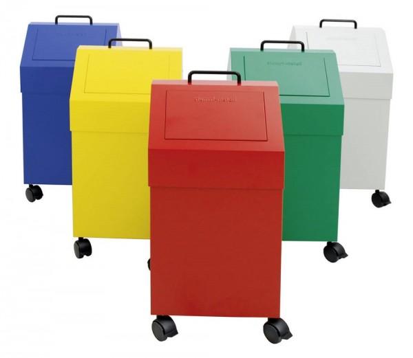 Stumpf Metall Abfalltrennung 45, fahrbar, 45 Liter, verschiedene Farben
