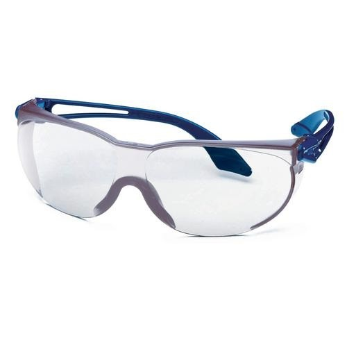 uvex Schutzbrille 9174065 skylite blau, PC farblos, kratzfest, chemikalienbeständig