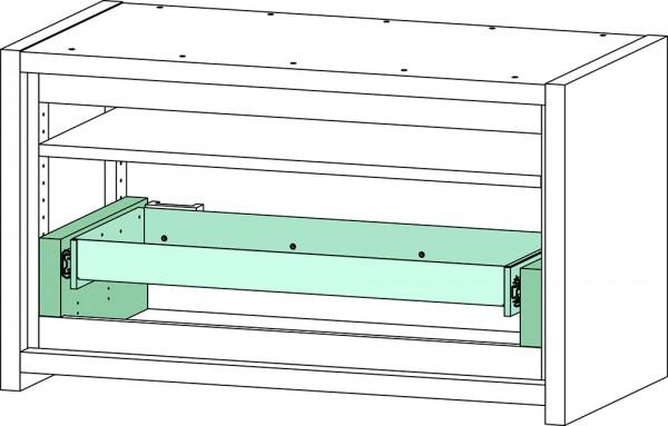 Priorit Untertisch-Sicherheitsschrank Priocab Typ30 2-flügelig, 1 Vollauszug
