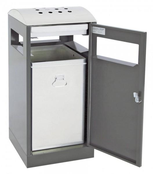 Stumpf Metall Abfalltrennung A³-AA, Abfall-/Ascher für Außenbereiche, 90 Liter