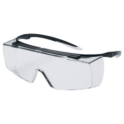 uvex Schutzbrille 9169261 super OTG HC/AF, schwarz, PC farblos