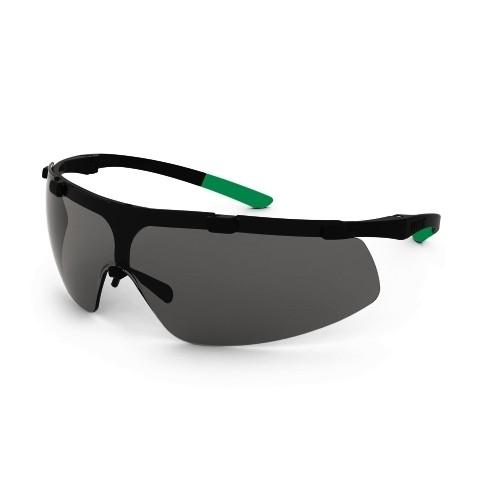 uvex Schweißerschutzbrille 9178043 super fit, schwarz/grün, PC grau, Schutzstufe 3