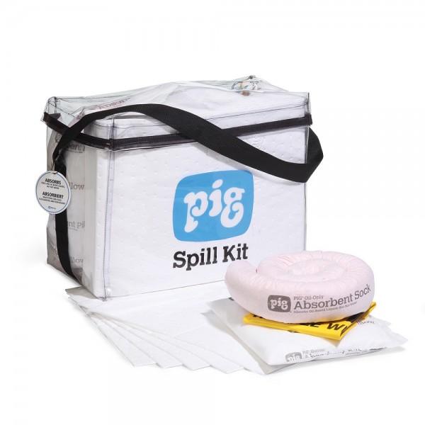 Viereckige Klarsicht-Notfalltasche Oil-Only KITL451
