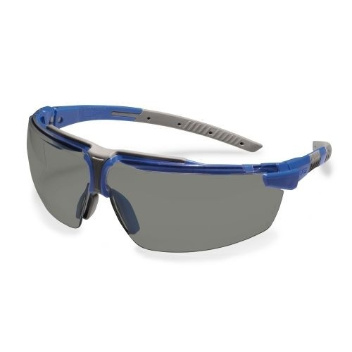 uvex Schutzbrille 9190086 i-3 s, schmal, blau/grau, PC grau, metallfrei, beschlagfrei