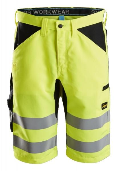 Snickers Workwear 6132 LiteWork High-Vis Shorts+, EN 20471 Klasse 1