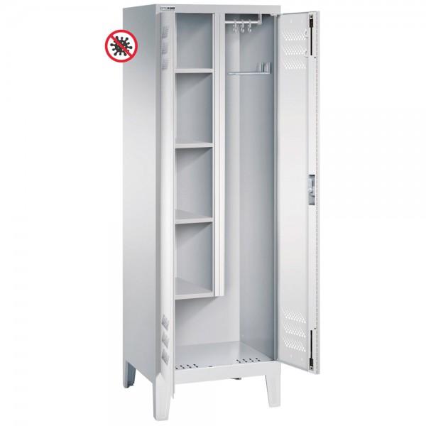 Putz- und Reinigungsmittelschrank mit 2 Abteilen und antimikrobieller Beschichtung