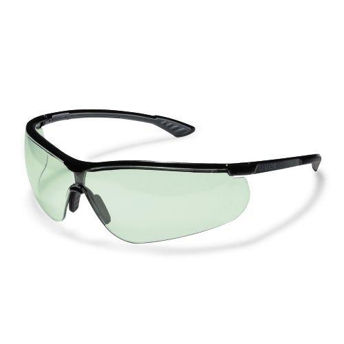 uvex Schutzbrille 9193880 sportstyle, schwarz/anthrazit, PC leicht grün, variomatic