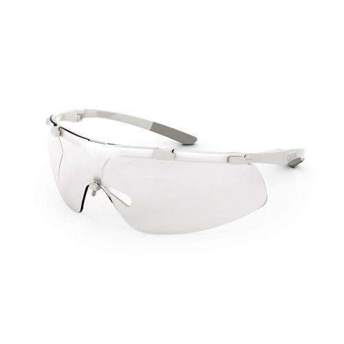 uvex Bügelbrille 9178415 super fit ETC, weiß/grau, PC farblos, beidseitig beschlagfrei