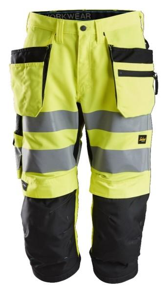 Snickers Workwear 6134 LiteWork High-Vis Piratenhose+ mit Holstertaschen, EN 20471 Klasse 2