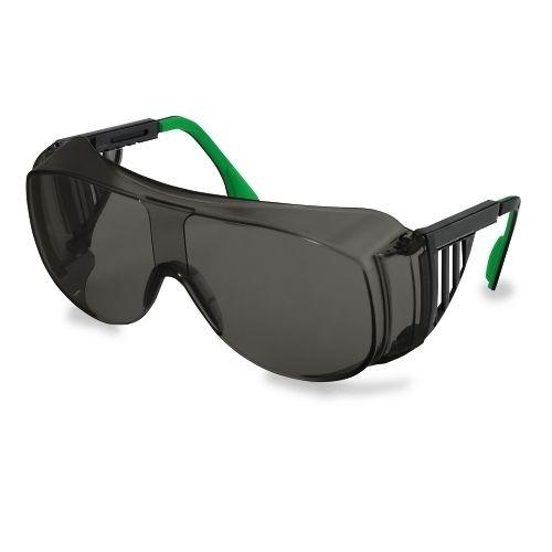 uvex Schweißer-Überbrille 9161143 schwarz / grün, PC grau, Schutzstufe 3, verstellbare Bügel